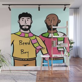 Beard Boy: James & Mike Wall Mural