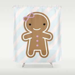 Cookie Cute Gingerbread Girl Shower Curtain