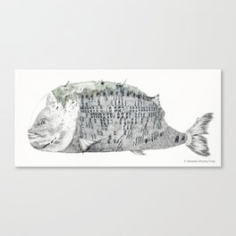 Fish Scale Building Canvas Print