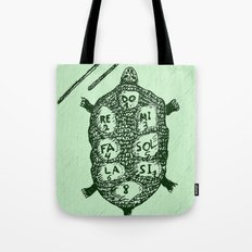Turtle on Green Tote Bag