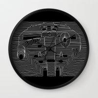 millenium falcon Wall Clocks featuring Millenium division by BomDesignz