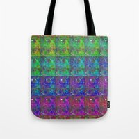 squirtle Tote Bags featuring Squirtle Spectrum by pkarnold + The Cult Print Shop