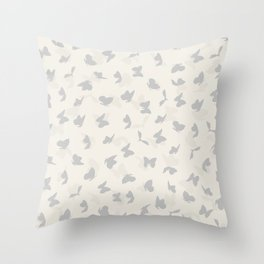 flying butterflies in pastel colors Throw Pillow
