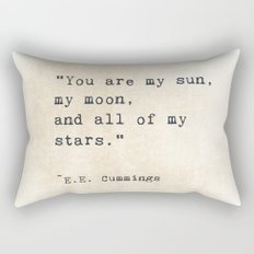 EE Cummings, Sun Moon Stars Quote, Love Rectangular Pillow