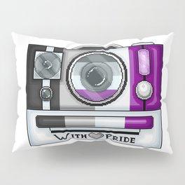 Asexual Pride Pixel Camera Pillow Sham