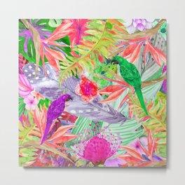 exotic parrots i Metal Print