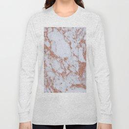 Intense rose gold marble Long Sleeve T-shirt
