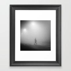 MAN IN THE MIST Framed Art Print