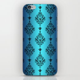 Skulls and Bats and Damask, Oh My! iPhone Skin
