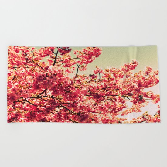 floWers : Romantic Vintage Blossoms Beach Towel
