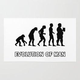 evolution man beer Rug