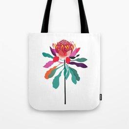 Australian Native; Waratah Tote Bag