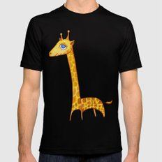 Baby Giraffe MEDIUM Black Mens Fitted Tee