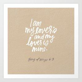 I am my lover's Art Print