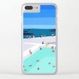 Santorini sun Clear iPhone Case