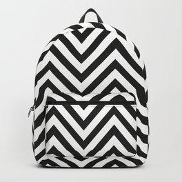 Geometric B/W Lines Pattern Backpack