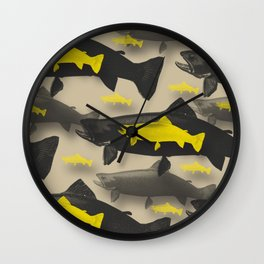 3D Fish Wall Clock