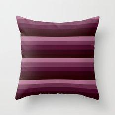 Burgundy stripes Throw Pillow
