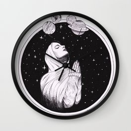 Pray The Universe Wall Clock