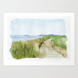 Inverness Beach Art Print