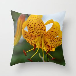 Yellow Spotted Lily by Teresa Thompson Throw Pillow