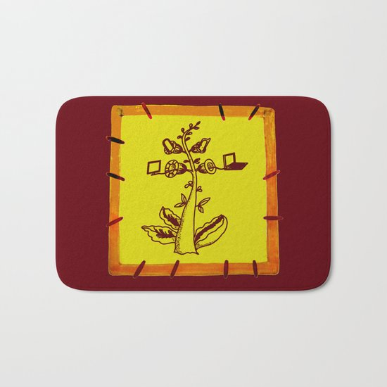tree with a computer , telephone and other device Bath Mat