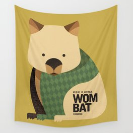 Hello Wombat Wall Tapestry