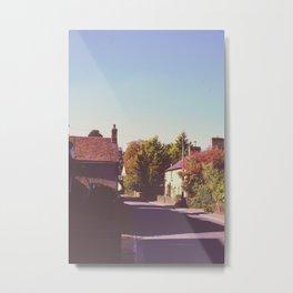 Old vintage english street, Metal Print