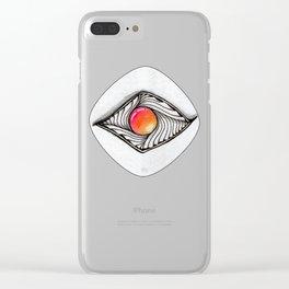 Doodled Gem Sparkle Eye Clear iPhone Case