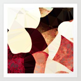 Baroque Burgundy Copper Ivory Maximum Abstract Art Art Print