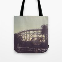 postcard Tote Bags featuring postcard moments by Lewis Best