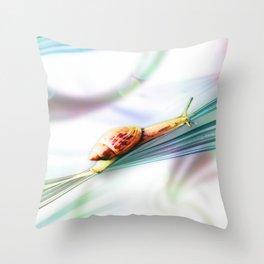 The Snail (Pretty Bokeh Background) Throw Pillow