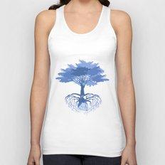 Heart Tree - Blue Unisex Tank Top