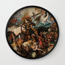 Pieter Bruegel the Elder The Fall of the Rebel Angels Wall Clock