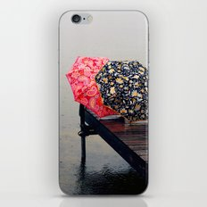 Rainy Day Friends iPhone & iPod Skin