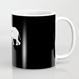 Elephant Silhouette Heart Coffee Mug