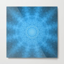 Denim Mandala Metal Print