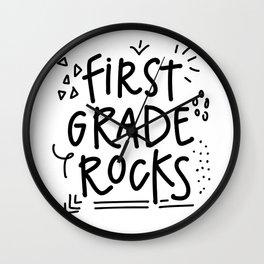 First Grade Rocks Wall Clock