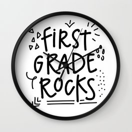 First Grade Rocks Wall Clock