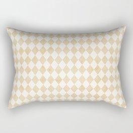 Chic Gold & Ivory Harlequin Pattern Rectangular Pillow