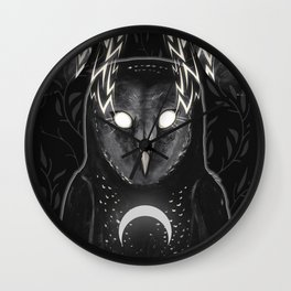 Don't Go In The Woods Wall Clock