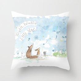 Little star gazers Throw Pillow