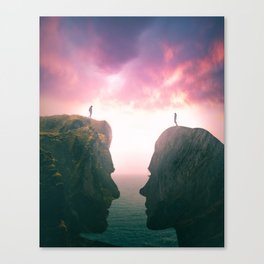 Love finds a way Canvas Print