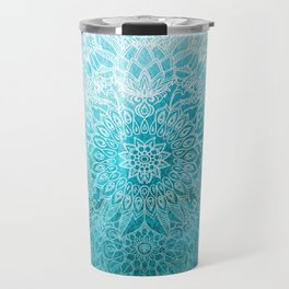 Fade to Teal - watercolor + doodle Travel Mug