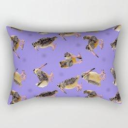 Purple Polka-Dotted Peents Rectangular Pillow