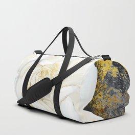 Aged Art Deco Gardenia Floral Art Duffle Bag