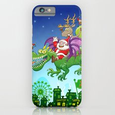 Santa changed his reindeer for a dragon iPhone 6s Slim Case