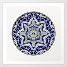 Looking Up Dome Mandala Art Print