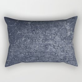 geometric abstract background in black and white Rectangular Pillow
