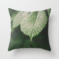 leaf Throw Pillows featuring Leaf by Errne